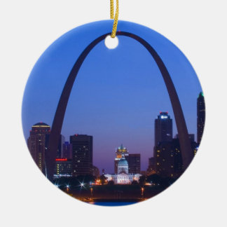 St. Louis City Scape Christmas Ornament