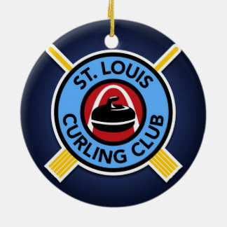 St Louis Curling Club Christmas Ornament