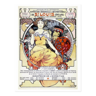 """""""St. Louis Exposition Art by Mucha"""" Postcard"""
