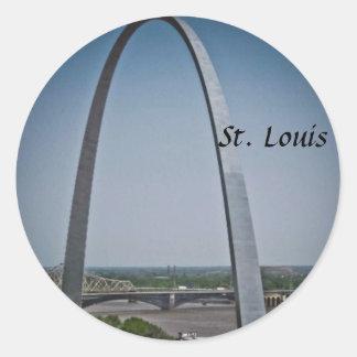 St. Louis Gateway Arch Round Sticker