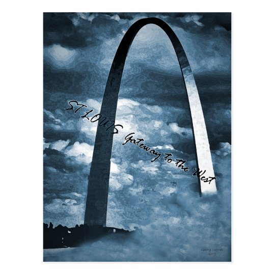 ST LOUIS -Gateway to the West Postcard