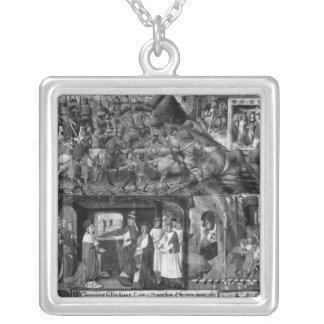 St. Louis  Leaving for the Crusade Silver Plated Necklace