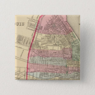 St Louis Map by Mitchell 15 Cm Square Badge