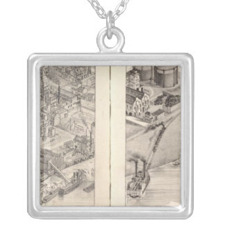 St. Louis, Missouri 2 Silver Plated Necklace