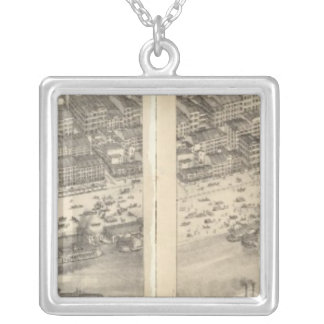 St. Louis, Missouri 3 Silver Plated Necklace