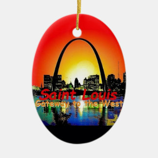 St. Louis Missouri Ceramic Oval Decoration