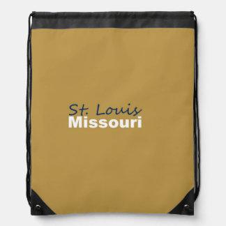 St. Louis, Missouri Drawstring Backpack