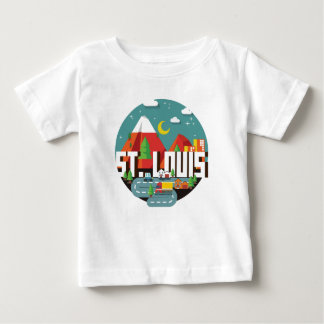 St. Louis, Missouri Geometric Design Baby T-Shirt
