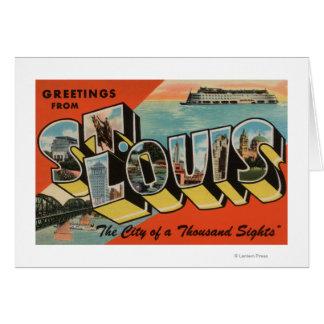 St. Louis, Missouri - Large Letter Scenes Card