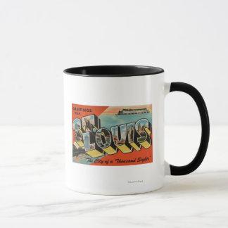 St. Louis, Missouri - Large Letter Scenes Mug