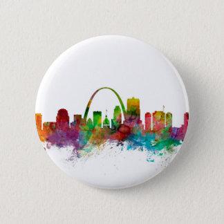 St Louis Missouri Skyline 6 Cm Round Badge