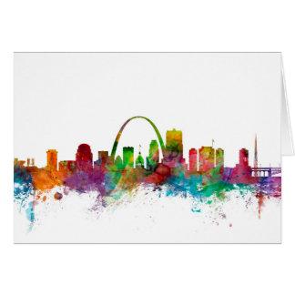St Louis Missouri Skyline Card