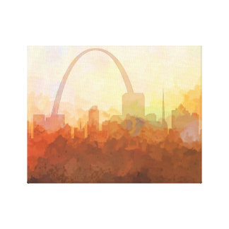 ST LOUIS, MISSOURI SKYLINE-In the Clouds Canvas Canvas Print