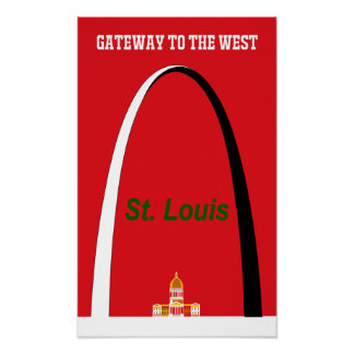 St. Louis, Missouri travel poster