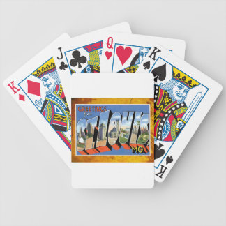 St. Louis Missouri Vintage Greetings Post Card Bicycle Playing Cards