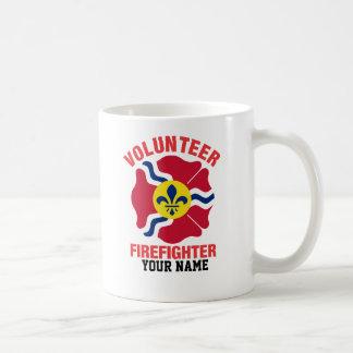 St Louis, MO Flag Volunteer Firefighter Cross Coffee Mug