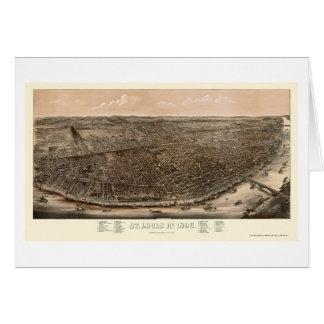 St. Louis, MO Panoramic Map - 1896 Card