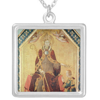 St. Louis of Toulouse  crowning his brother Silver Plated Necklace