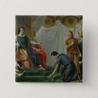St. Louis  Pardonning Mauclerc 15 Cm Square Badge