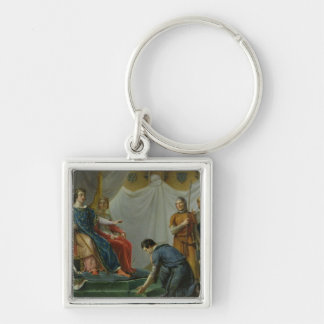 St. Louis  Pardonning Mauclerc Silver-Colored Square Key Ring