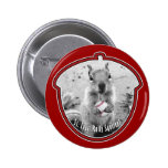 St Louis Rally Squirrel - baseball Pinback Buttons
