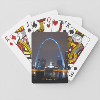 St. Louis Skyline at Night Playing Cards