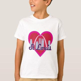 St Louis Skyline Heart T-Shirt