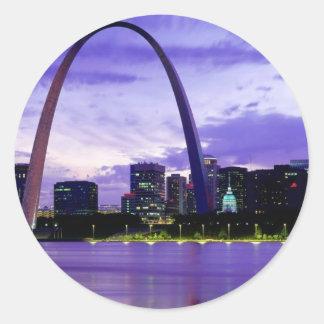 St. Louis Skyline Round Sticker