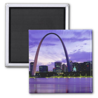 St. Louis Skyline Square Magnet
