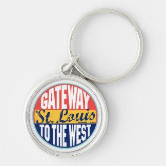 St Louis Vintage Label Key Ring
