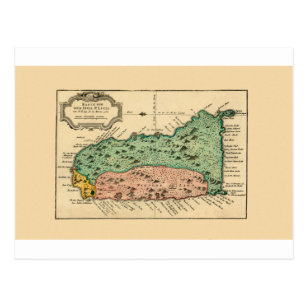 St Lucia 1758 Postcard