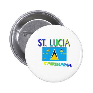 St. Lucia Pinback Button