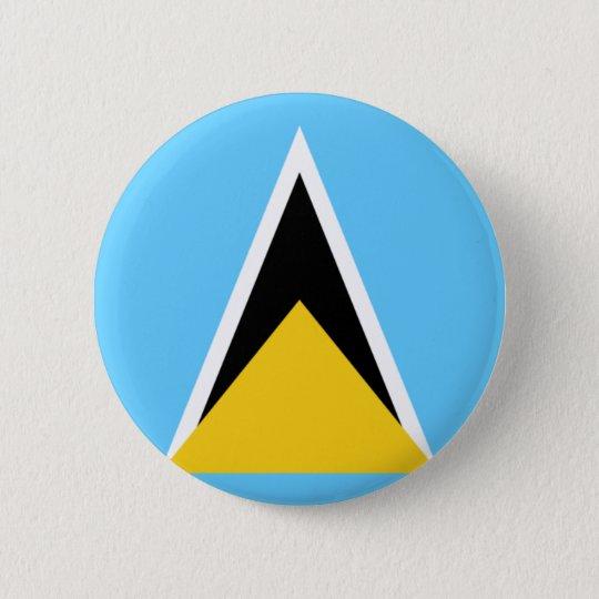 St Lucia Flag 6 Cm Round Badge