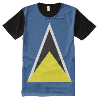 St. Lucia Flag All-Over Print T-Shirt