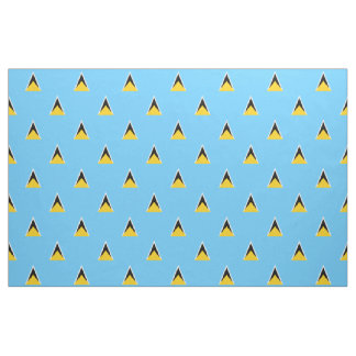 St. Lucia Flag fabric light blue