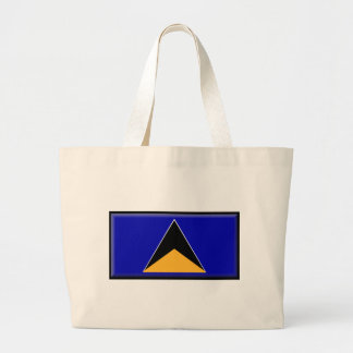 St. Lucia Flag Large Tote Bag