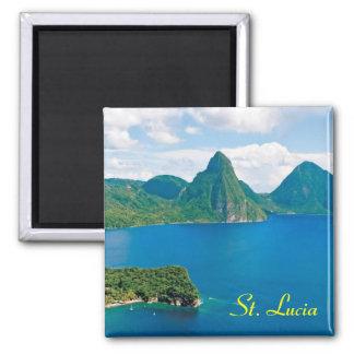 St. Lucia fridge magnet