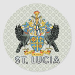 St. Lucia High Quality Coat of Arms