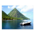 St Lucia Pitons Postcard