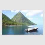 St Lucia Pitons Stickers