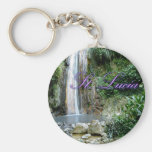 St Lucia Waterfall Keychain