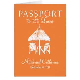 St. Lucia Wedding Passport Invitation