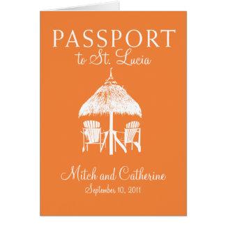 St. Lucia Wedding Passport Invitation Stationery Note Card
