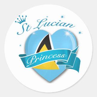 St Lucian Princess Classic Round Sticker