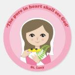 St. Lucy Round Stickers