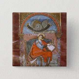 St. Luke, from the Gospel of St. Riquier 15 Cm Square Badge