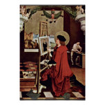 St. Luke Painting The Madonna Altar Wings Poster