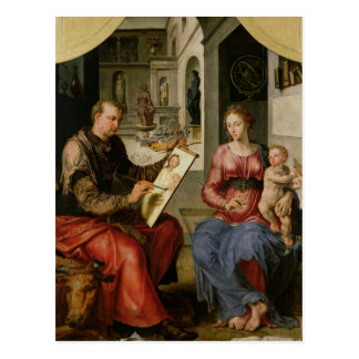 St. Luke Painting the Virgin, c.1545 Postcard
