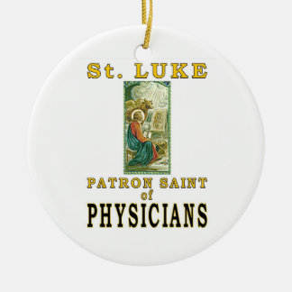 ST. LUKE PATRON SAINT PHYSICIANS CHRISTMAS ORNAMENTS