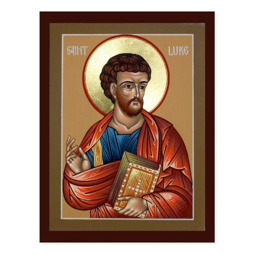 St. Luke Prayer Card Postcards